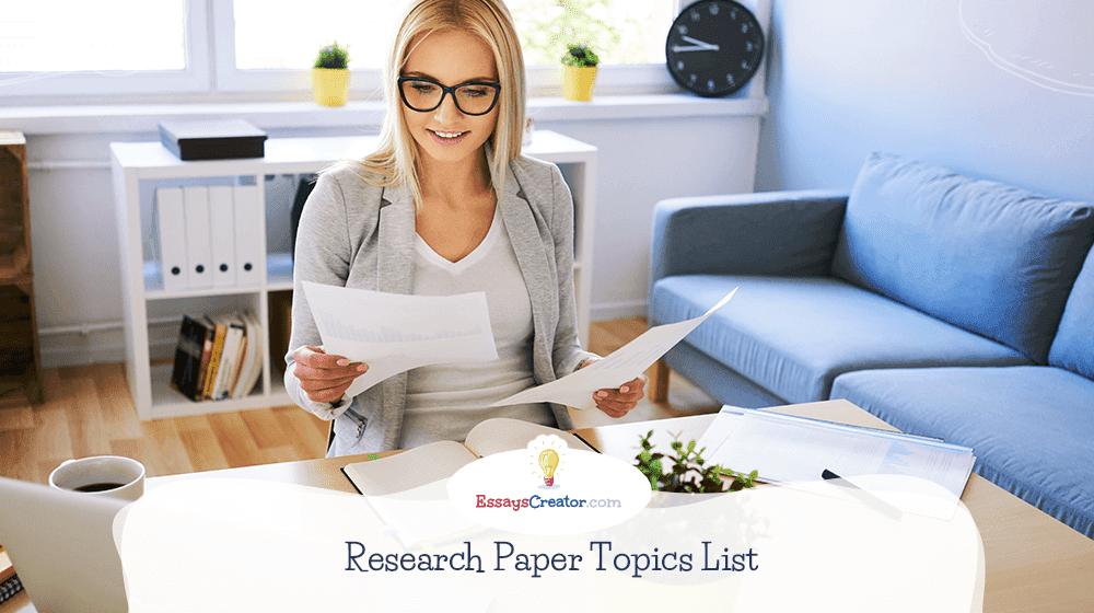 Research Paper Topics List